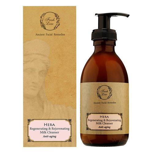 Regenerating & Rejuvenating </br>Milk Cleanser </br>with rose & sandalwood