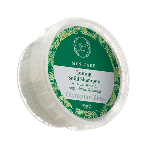 Toning </br>Solid Shampoo </br>with Cedarwood & Sage